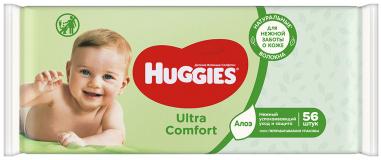 Huggies салфетки BW Ultra Comfort Aloe   56 шт