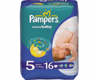 Pampers подгузники Active Baby Maxi Junior S6 6*16