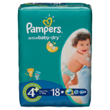 Pampers подгузники Diapers maxi 4+ PL RP Active Baby №18