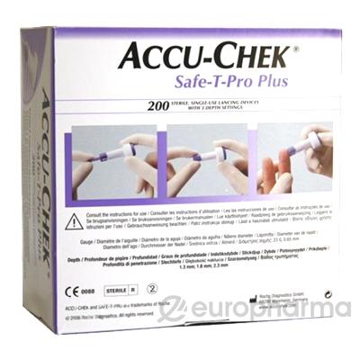 Ланцеты Accu-Chek Safe-T-Pro Plus №200