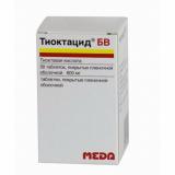 Тиоктацид 600 БВ 600 мг, №30, табл покр. оболочкой
