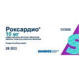 Роксардио 10 мг № 28 табл п/плён оболоч