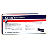 Конкор 10 мг, №50 табл.