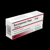 Бисопролол-Тева 5 мг № 30 табл.