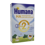 Humana смесь Гипоаллергенная 2 для детей с 6 месяцев 300 г