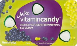 Jake леденцы витамин С 216 г № 12 шт виноград