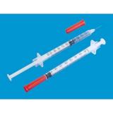 Шприц инсул U-100 с несъемной иглой, 1 мл, (Vogt Medical)