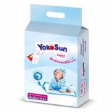 YokoSun одноразовые пеленки с липкой лентой для фиксации 50 x 50 см детские п/эт пакет № 10 шт