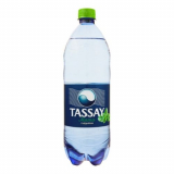 Tassay вода газированная пластик 1,0 л мята