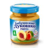Бабушкино лукошко пюре персик без сахара с 4 меся 100 гр