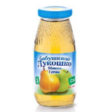 Бабушкино лукошко Сок яблочно-грушевый 200 гр