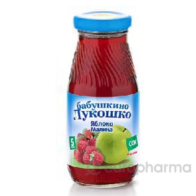Бабушкино лукошко сок яблочно-малиновый осветленный 200 мл