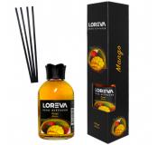 Loreva жидкий диффузор стекло и картонная коробка 110 мл № 30 шт манго