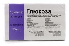 Глюкоза р-р для в/в введения 400 мг/мл 10 мл №10