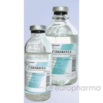 Глюкоза 5%, 400 мл, фл.