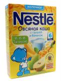 Нестле Каша молочная Овес, груша, банан 250 гр