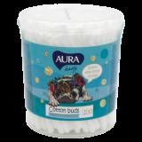 Aura ватные палочки круглый пластиковый контейнер № 200 шт