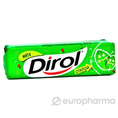 """Dirol жевательная резинка без сахара """"Мята"""" 13,6 г"""