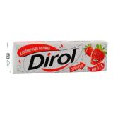 """Dirol жевательная резинка без сахара отбеливающий """"Клубничная поляна"""" 13,6 г"""