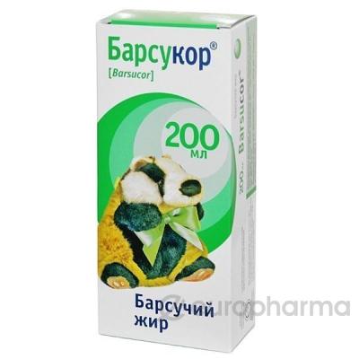 Барсучий жир Барсукор 200 мл