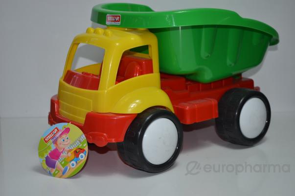 """Stellar грузовик """"Жук"""" (яркий,цветной с откидным кузовом,38 см), 12+"""