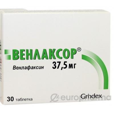 Венлаксор 37,5 мг, №30, табл.