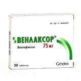 Венлаксор 75 мг, №30, табл.