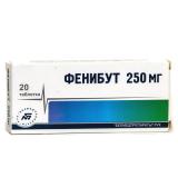 Фенибут 250 мг, №20, табл.
