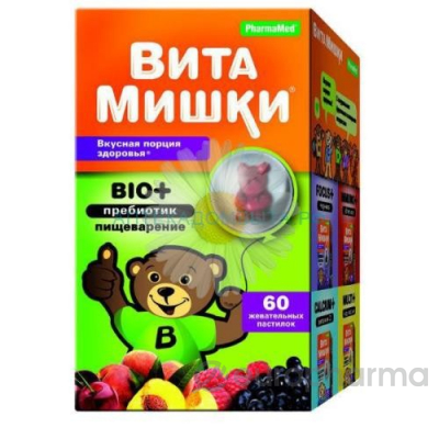 ВитаМишки BIO+ №30 жев.пастилки
