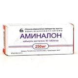 Аминалон 250 мг, №50, табл.