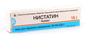Нистатиновая 15 гр, мазь