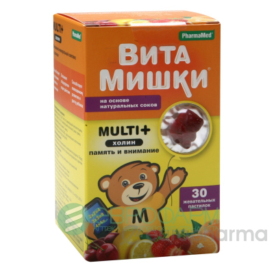 ВитаМишки Multi+ №30 жев.пастилки