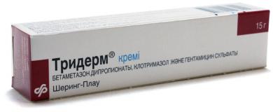 Тридерм 15 гр, крем