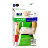 Бандаж для руки поддерживающий с дополнительной фиксацией MedTextile артикул (черный/белый) 9905 L