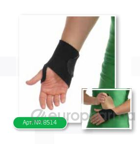 Бандаж на лучезапястный сустав с фиксацией пальца МеdTextile артикул 8552,S/М