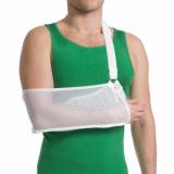 Бандаж для руки поддерживающий с дополнительной фиксацией MedTextile артикул (черный/белый) 9905 XL
