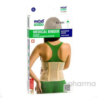 Бандаж лечебно-профилактический эластичный МеdTextile 4002 XL
