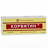 Корвитин 0,5 г № 5 лиофилизат д/пригот р-ра