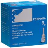 Глирома 9 г №6 р-р ректальный
