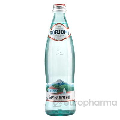 Borjomi вода минеральная стекло 0,5 л