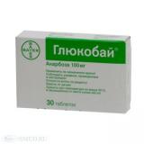 Глюкобай 100 мг, №30, табл.