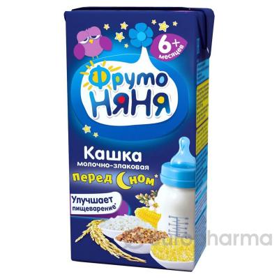 Фрутоняня кашка молочно-злаковая (гречнево-кукурузно-рисовая) 0,2 л