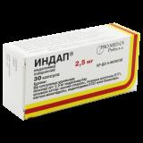 Индап 2,5 мг № 30 капс
