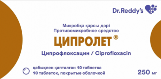 Ципролет 250 мг, №10, табл.