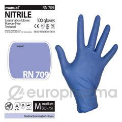 Manual перчатки RN709 M смотровые нитриловые нестерильные
