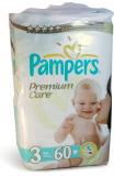 Pampers подгузники Premium Care миди №60