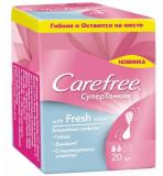 Carefree cалфетки ежедневные Ultra slim fresh №20