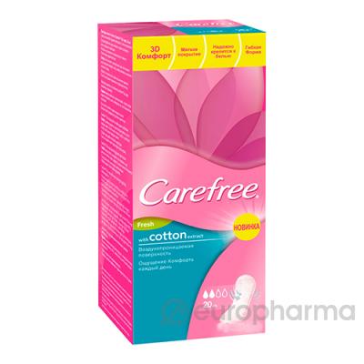 Carefree прокладки  ежедневные Ultra slim cotton №20
