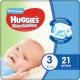 Huggies подгузники Ultra Comfort 3 (5-9 кг) для мальчиков № 21 шт