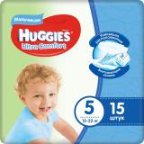 Huggies подгузники Ultra Comfort 5 (12-22кг) для мальчиков 15*8